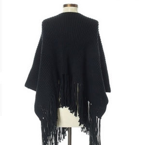 Express Sweaters - EXPRESS Black Cable Knit Poncho
